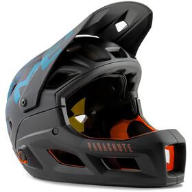 MET Parachute MCR MIPS Helm black petrol blue